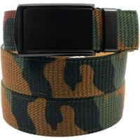 SlideBelts Canvas Belts (Forest Camo with Matte Black Buckle)