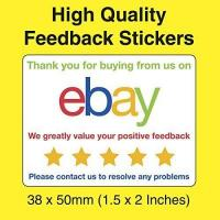 Ebay Ebay Colour Thank You For Your Purchase Feedback Stickers / Labels (200)